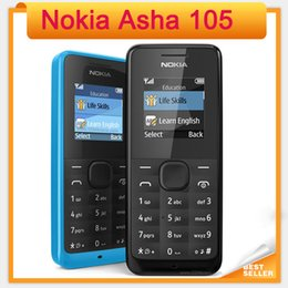 Wholesale Cheapest Refurbished Phones - Cheapest Original Nokia Asha 105 Bar GSM single core refurbished mobile Phones