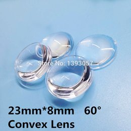 Светодиодный объектив pmma онлайн-Wholesale-50pcs/lot semi-circle Plano-convex LED Lenses 23mm Optic Lens Grade PMMA For Lens Reflector