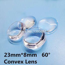 Wholesale Convex Lens Glasses - Wholesale-50pcs lot semi-circle Plano-convex LED Lenses 23mm Optic Lens Grade PMMA For Lens Reflector