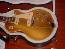 Wholesale Stocking For Body - free shipping ! New Beautiful hot sell Historic GOLDTOP Tribute MINT electric guitar in stock