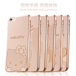 Wholesale Monkey Phone Covers - Cute Animal Cartoon phone cases Big Head Little Bear mouse cat monkey Stitch PC Cover For iphone 6 iphone 6plus
