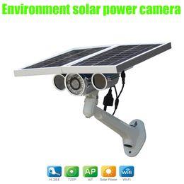 Wholesale Solar Powered Ip Camera Wireless - HW0029 environment Solar Power Wireless IP Camera Outdoor 720P Waterproof Surveillance Security Camera WiFi With Night Vision IR camera
