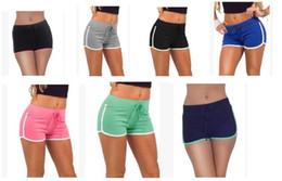 Wholesale Women High Waist Pant Wholesale - Fashion Summer Sports Women Shorts Leisure Elastic Waist Women Shorts Female Casual Yoga Short Running Shorts Fast shipping