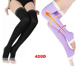 Wholesale Over Knee Tight Boots - FG1509 Women Stockings For Women 480D Stockings Sexy tights Boots Sleep Slimming Ladies Leg Shaper Varicose Veins Stockings