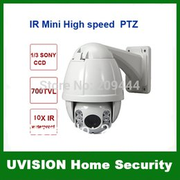 Wholesale Dome Ccd Zoom - Surveillance 4.5inch 700TVL 10X Optical Zoom 220 Prerets MINI IR High Speed Outdoor CCTV PTZ Dome IR Camera free shipping