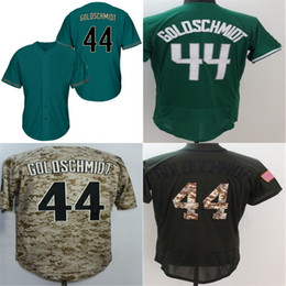 Wholesale womens camo shorts xl - 2016 New Wholesale Mens Womens Kids Toddlers Arizona #44 Paul Goldschmidt Green Camo Baseball Jersey Top Quality Drop Shipping