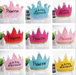Wholesale Prince Adult Costume - Birthday Crown hat party hats hair accessory prince princess for party decorations adult child crown hat costume jewelry PA02
