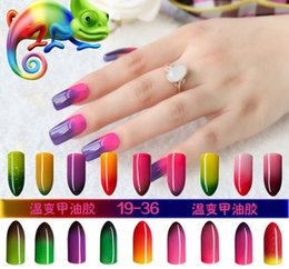 Wholesale Led Color Changing Nail Polish - High Quality Color Changing per Temperature Gelish Nail Polish 10ml LED Nail Beauty 36 Colors Long Lasting Nail Gel