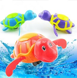Wholesale Plastic Wind Up Animals - DHL high quality Diver Bath Toy Swimming Floating Turtle Swim and Crawl Bathtub Wind Up Toys Pool Bath Fun Cute Sets for Kids