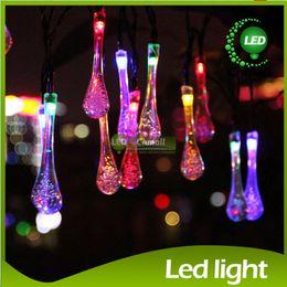 Wholesale Raining Lamp - Christmas Light 20led LED RGB Strings Solar Led Strings Bubble Rain Ball Lamp Tube Light Xmas Wedding Party Holiday Decor Lamps LED Light