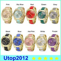 Wholesale Clock Geneva - 2017 new male fashion casual watches women Geneva Women Watch Men clock Men's Luxury Watches For Present Gift DHL Free shipping