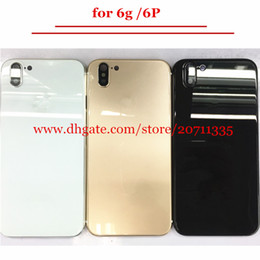 Wholesale Aluminum Back Housing - A quality Back Cover Housing For iPhone 6 6s 6p Like X 10 style Aluminum Metal Back Battery Door Cover Replacement
