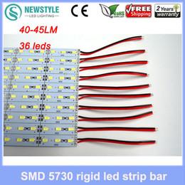 Wholesale-20pcs LED Bar luci striscia rigida 50CM DC12V 36 led SMD5730 18W40-45LM LED rigido rigido LED Bar luce bianco / caldo bianco freeshipping da cornici in alluminio fornitori