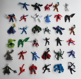 Wholesale hot action - 2017 Spiderman Avengers Hulk Mini Action Figures Gashapon Gachapon Capsule Toys Hot sale Cute for children Christmas Gifts