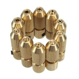 Wholesale Diamonds Drill - 2.3mm Brass Electric Motor Shaft Clamp Fixture Chuck Mini Small For 0.7mm-3.2mm Drill Micro Drill Bit Clamp Fixture Chuck