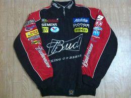 Wholesale Men Turtleneck Cotton - Embroidery LOGO F1 FIA NASCAR IndyCar V8 Supercar MOTO GP Racing Cotton Jacket Motorcycle Rider Jacket For Budweiser Jacket,A072 A073
