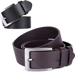 Wholesale Metal Prong - New Mens Accessory Leather Single Prong Belt Business Casual Metal Buckle Dave