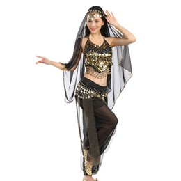 Wholesale Indian Dance Wear - 2PCS SET Belly Dancing Clothes, Indian Dance Costume for Performance Stage Wear Women Dance Dress