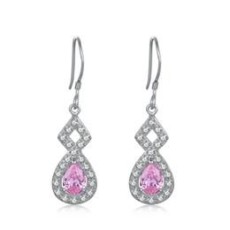 STARHARVEST jolie et bien-sage 925 Sterling Silver Hook rose violet et argent boucles d'oreilles pour les dames ? partir de fabricateur