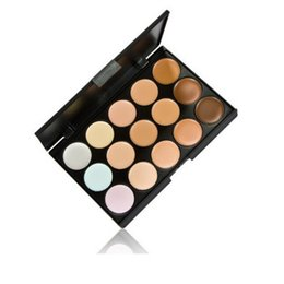 Wholesale Natural Acne - Hot New 15 Colors Beauty Pro Face Cream Makeup Concealer Contour Palette Kits M293