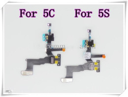 Wholesale Mic Assembly - Original For IPhone 5G 5C 5S Proximity Light Sensor With Front Camera Assembly Flex Cable Ribbon Cam Mic Microphone Flaxy