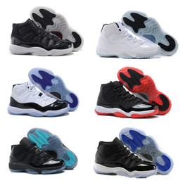 Wholesale Gold Star Discounts - 2017 new retro 11 basketball shoes Space Jam Metallic Gold mens sneaker navy blue discount shoes Varsity Red Closing Ceremony athletics