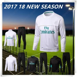 Wholesale Men Black T Shirt L - 2018 Tranning KITS outfits Tracksuits T shirt 18 Real Madrid Home Away 3rd Soccer Jerseys 17 18 Ronaldo ASENSIO Football HOT FASHION