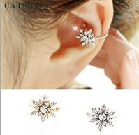 Wholesale Gold Diamond Ear Cuffs - Shinning Diamond snow earring, ear cuff, ear hole non-needed, Fashion Jewelry, Anti-allergic, no fade, Hign quality and Free Shipping