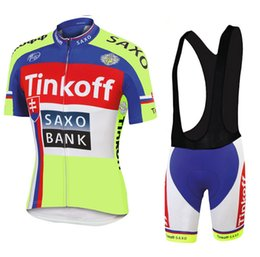 Wholesale Saxo Short Red Cycling - 2015 TINKOFF SAXO BANK TEAM PETER SAGAN SLOVAKIA FLUO Short Sleeve Cycling Jersey Bike Bicycle Wear + BIB Shorts Size XS-4XL