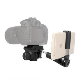 "Wholesale Video Screw - VT-1310 Portable Lightweight Camera Video Tripod Pan Tilt Head 1 4"" Screw Quick Release Plate & Phone Clip for Canon Nikon Sony Cellphones"