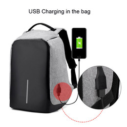 Wholesale Computers Chargers - Waterproof reflective laptop bag anti theft with usb charger antitheft backpack retail and wholesale