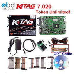 Wholesale Honda Ecu Programmer - Hot Selling Ktag 7.020 SW 2.23 ECU Programmer Tool K tag 7.020 ECU Chip Tuning Add 100+ Protocols Than KTM100 Ktag 7.003