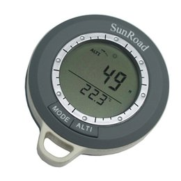 Wholesale Thermometer Barometer Forecast Waterproof - Waterproof Sunroad SR108N 8 in 1 Mini LCD Digital Camping Altimeter Rate Barometer Thermometer Compass Weather Forecast Time