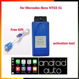 software chave de carro Desconto Para Mercedes-benz NTG5s1 NTG5 s1 CarplayAndroid Auto OBD Ativador Ferramenta Para Iphone5 / 6/7/8 para mb estrela c4 Carplay