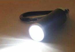 2019 mejor mosquetón para llaves Mini linterna de metal linterna lámpara de luz para llavero camping escalada