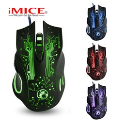 Wholesale lol brand - iMICE Brand USB mouse manufacturers wholesale X9 game optical mouse Colorful gaming LOL gaming mouse