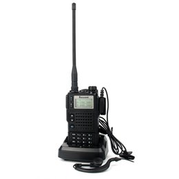 Wholesale Tri Band Radio - Wholesale-Dual Display Standby 10W RS-689 Walkie Talkie Tri-band 136-174MHz 350-400MHz 400-470MHz 200CH VOX DTMF FM Portable Two Way Radio