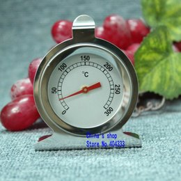 Wholesale Oven Thermometer Steel - Wholesale-Stainless steel oven thermometer kitchen oven thermometer Kitchen Bakeware Tool Directly into the oven Temperature Instruments