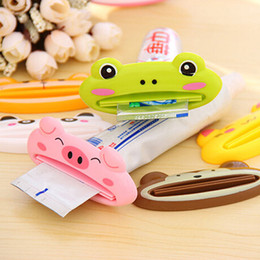 Wholesale Toothbrush Toothpaste Holder Set - Bathroom Creative Cartoon Animal Toothpaste Squeezer Bath Toothbrush Tube Rolling Holder Tools Dispenser Squeezing Bathroom Set