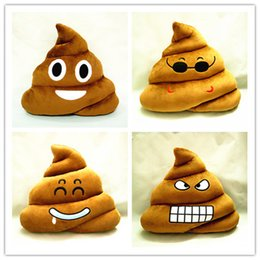 Wholesale Dolls Stuffed Toys - Cushion Emoji Pillow Gift Cute Shits Poop Stuffed Toy Doll Christmas Present Funny Plush Bolster Cojines Pillows Cushions sofa cushion 30CM