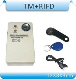 Actualice 2 en 1 Duplicador de copiador TMRFID / DS1990A Duplicador de tarjeta iButton TM + 10 pcsRW1990 + 10 piezas RW 125KHZ EM4305 tarjetas desde fabricantes