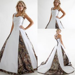 Wholesale Hot Image New - Vintage A-Line Applique Lace Camo Wedding Dresses 2016 Custom Backless Plus Size Formal Bridal Gown New Hot Sale Vestidos De Novia Princesa