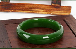 Wholesale Light Jade Bangle - Natural AAA ice kind of light Green jadeite jade jadeite jade bangle - The bangle size 58mm-62mm