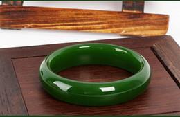 Wholesale 58mm Jade Bangle - Natural AAA ice kind of light Green jadeite jade jadeite jade bangle - The bangle size 58mm-62mm