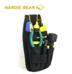 Wholesale pockets electrician bag - Hardie Bear Black Tool Bag Tool Pouch Professional Electricians 5 Pockets HBT-008 Good Quality Free Shipping