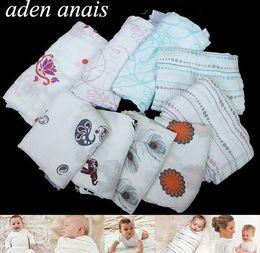 Wholesale Cotton Wrap Blanket For Babies - Hot Sale Aden Anais Bedding Quilts For Babies Newborn Supplies 100% Muslin Cotton Baby Receiving Blankets Cobertor Infantil Soft Baby Wrap