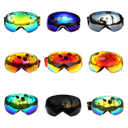 Wholesale Double Ski Goggles - Wholesale-COPOZZ Professional Ski Gogles Double Lens UV400 Anti-fog Ski Glasses Skiing Snowboarding Men Women Snow Goggles 1 pcs