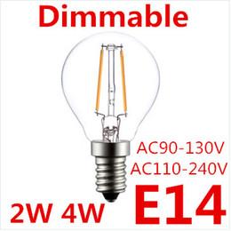 2019 lâmpada led b22 base Edison tipo G45 LEVOU Filamento Pode Ser Escurecido Led Lâmpada 2 W 4 W E27 E14 B22 Base AC85-265V LED Filamento Lâmpada Edsion Clássico Levou Lâmpada desconto lâmpada led b22 base