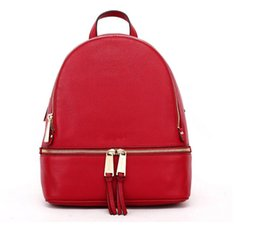 Wholesale Large Cross Charms - backpacks designer 2017 fashion women lady black red rucksack bag charms free shipping