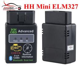 Wholesale Fiat Window - V2.1 Mini Bluetooth ELM327 OBD HH OBDII Car Diagnostic Scanner 3231Chip Works on Android Symbian Windows